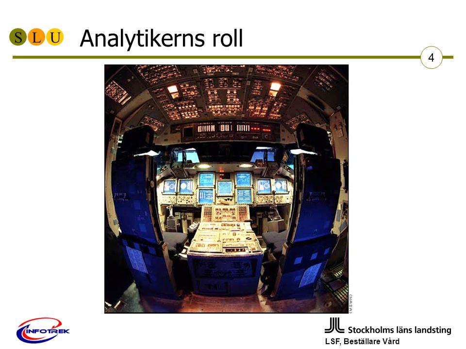 SLU LSF, Beställare Vård 4 Analytikerns roll
