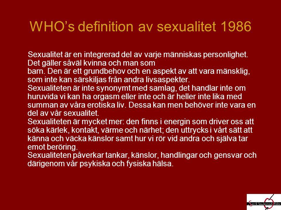 ICKE MÅLORIENTERAD SEX Kyssar Smekningar Erotisk massage Sensuell massage onani munsex samlag orgasm
