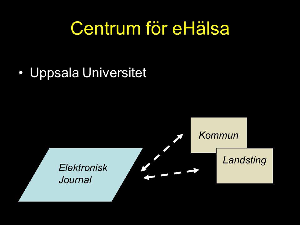 Centrum för eHälsa Uppsala Universitet Elektronisk Journal Kommun Landsting