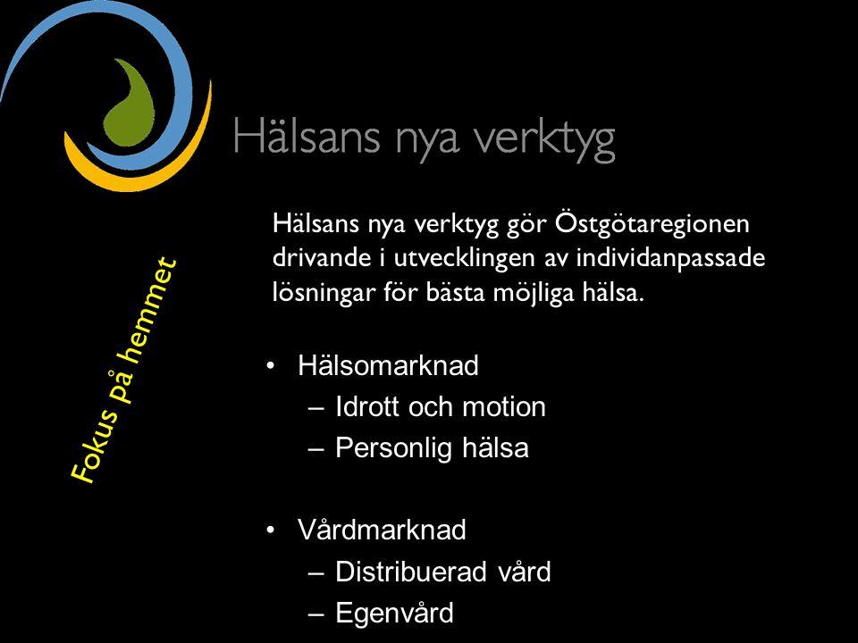 Uppsala Universitet Hälsomarknad –Idrott och motion –Personlig hälsa Vårdmarknad –Distribuerad vård –Egenvård Hälsosam tillväxt Hälsans nya verktyg gö