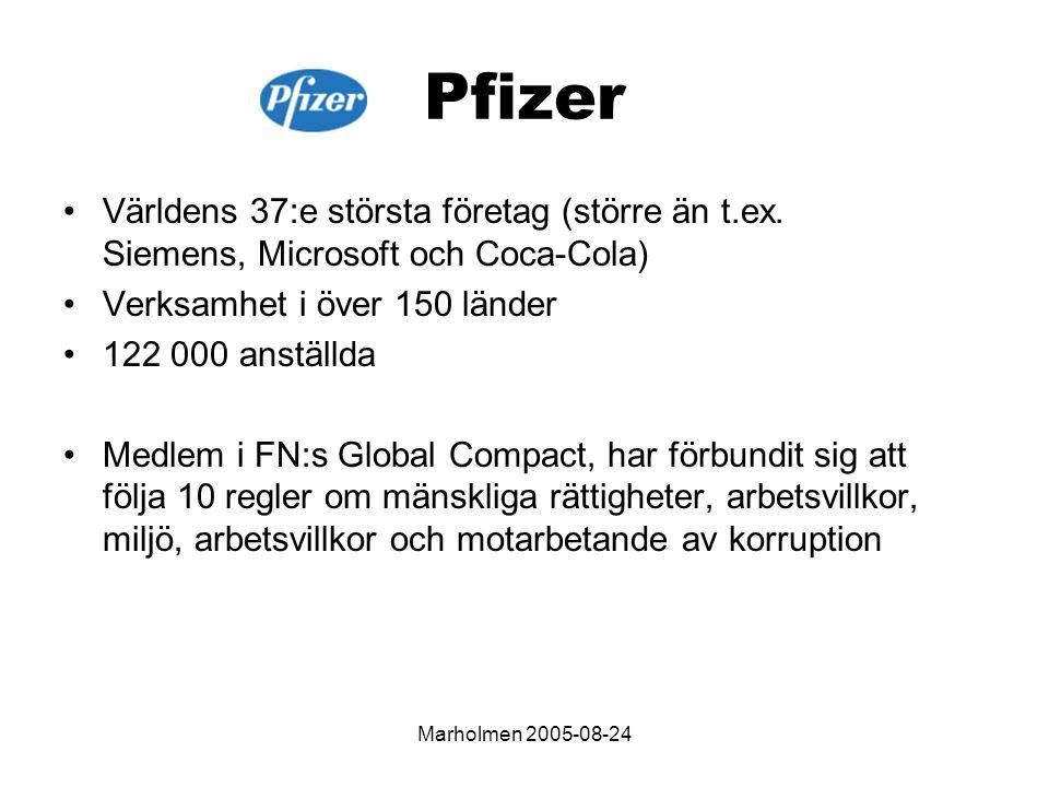 Marholmen 2005-08-24 Pfizer Världens 37:e största företag (större än t.ex.
