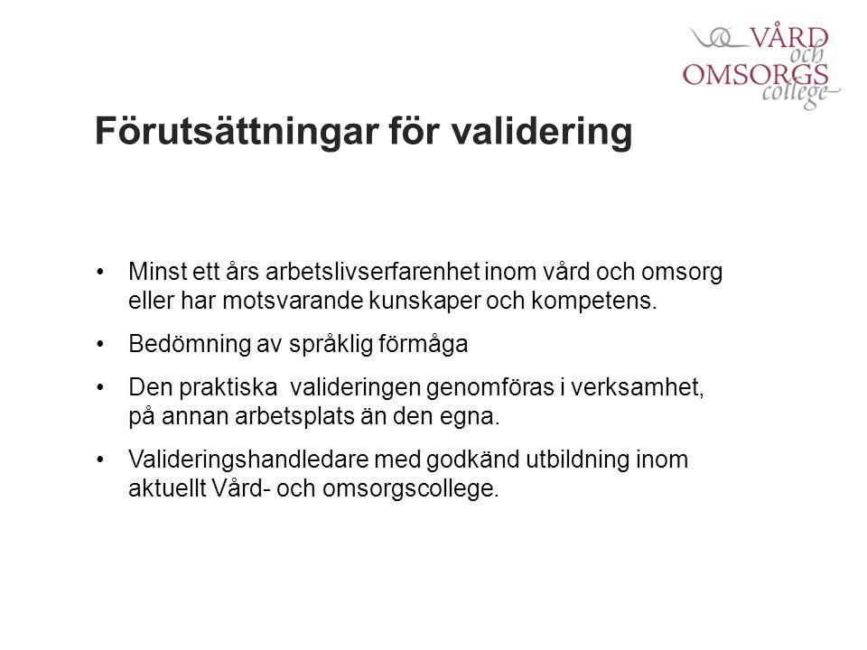 Riktlinjer validering Översiktlig kompetenskartläggning.