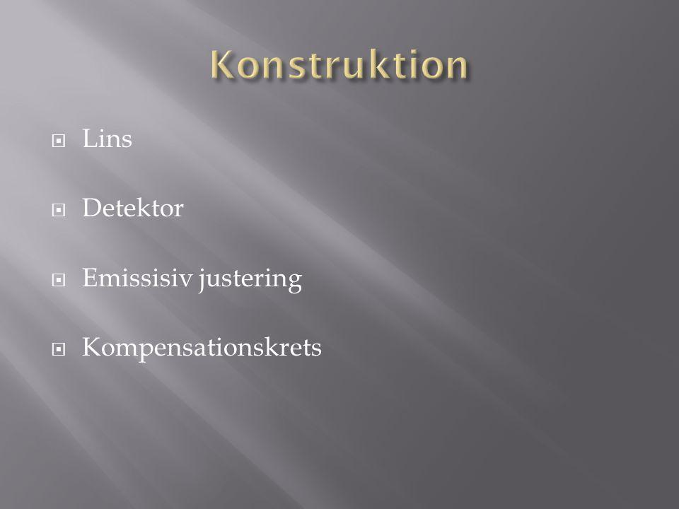 Lins  Detektor  Emissisiv justering  Kompensationskrets