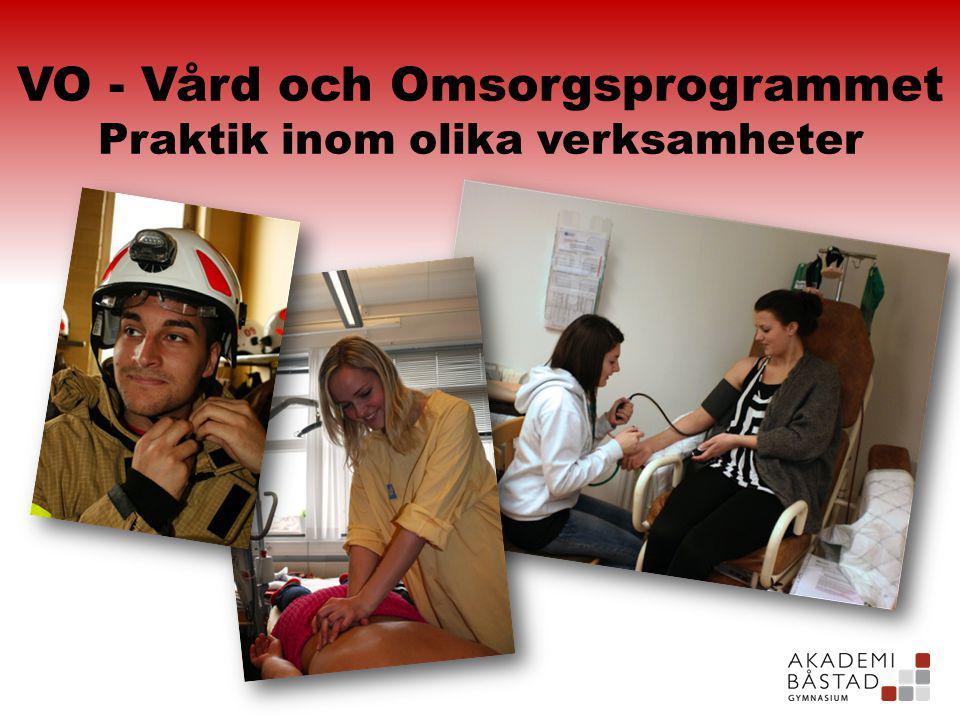 VO - Vård och Omsorgsprogrammet Praktik inom olika verksamheter