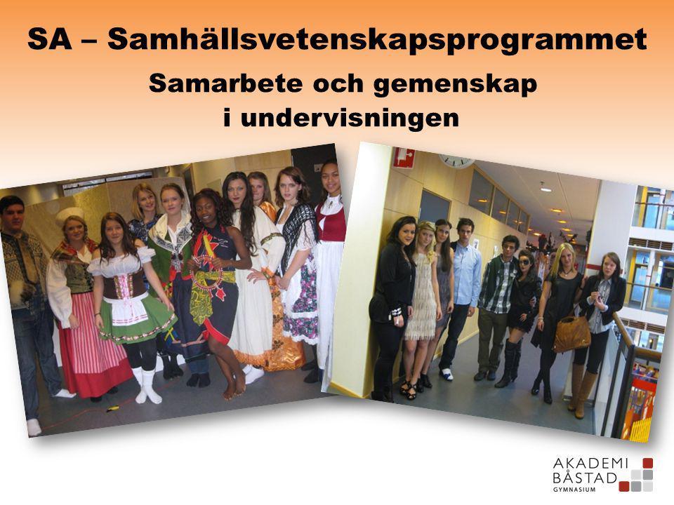 SA – Samhällsvetenskapsprogrammet Samarbete och gemenskap i undervisningen