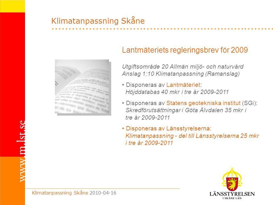.................................................................. Lantmäteriets regleringsbrev för 2009 Utgiftsområde 20 Allmän miljö- och naturvård