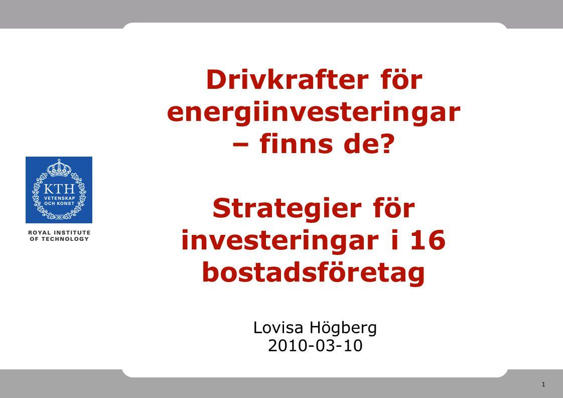2 Kort om mig Pol Mag i nationalekonomi från Uppsala Universitet Har jobbat med effektivitetsrevision på Riksrevisionen Doktorand i bygg- och fastighetsekonomi sedan feb 2009 Intresse för hållbarhetsfrågor