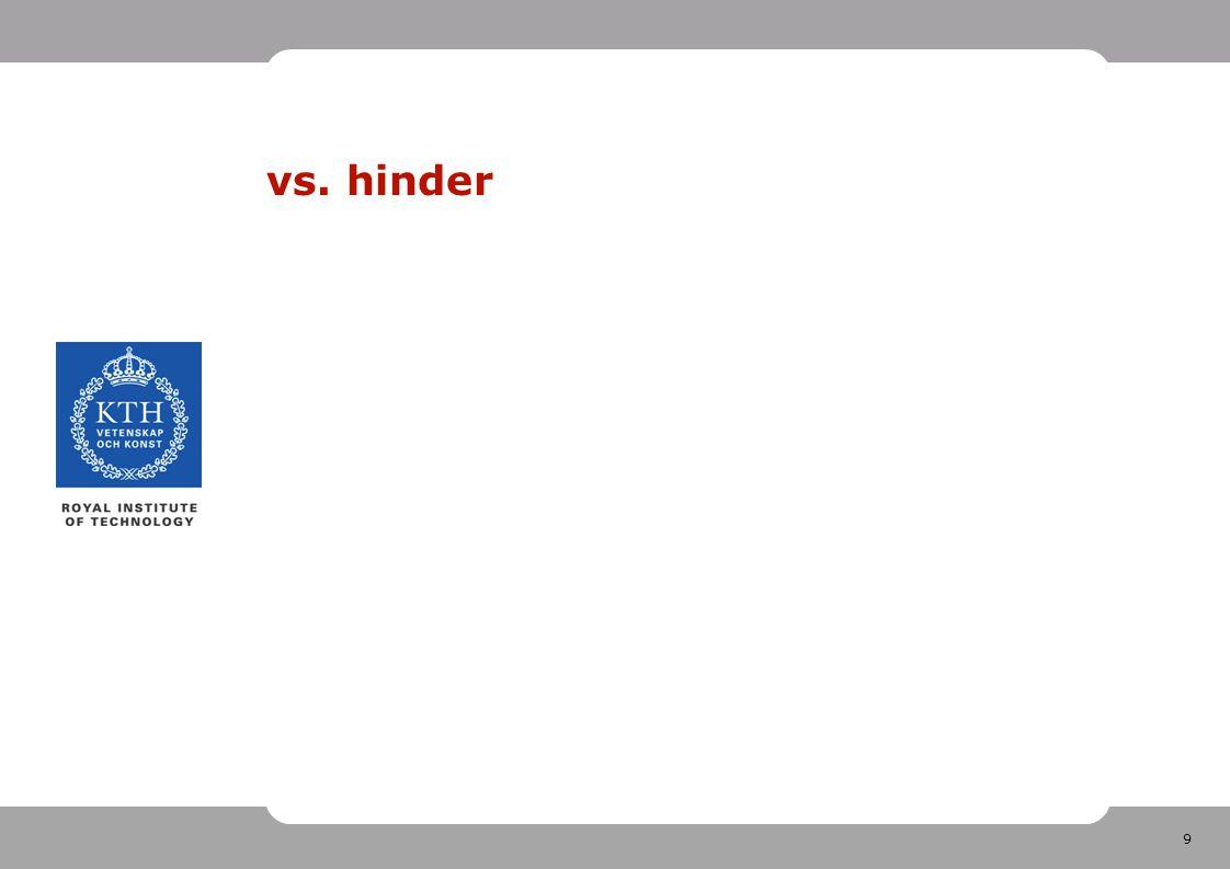9 vs. hinder