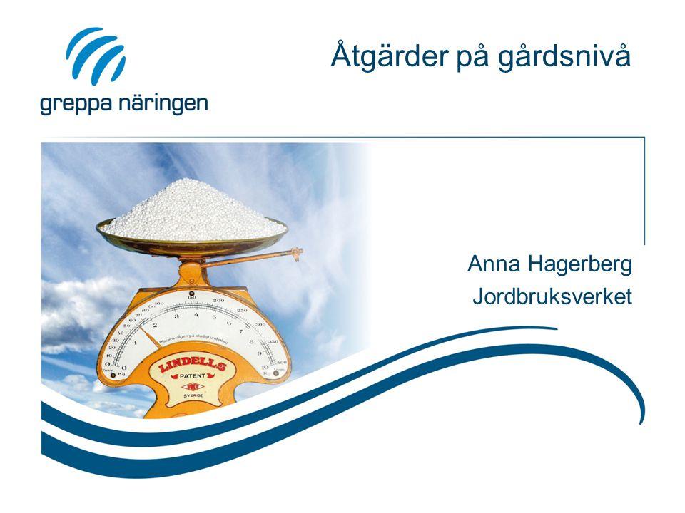 Åtgärder på gårdsnivå Anna Hagerberg Jordbruksverket