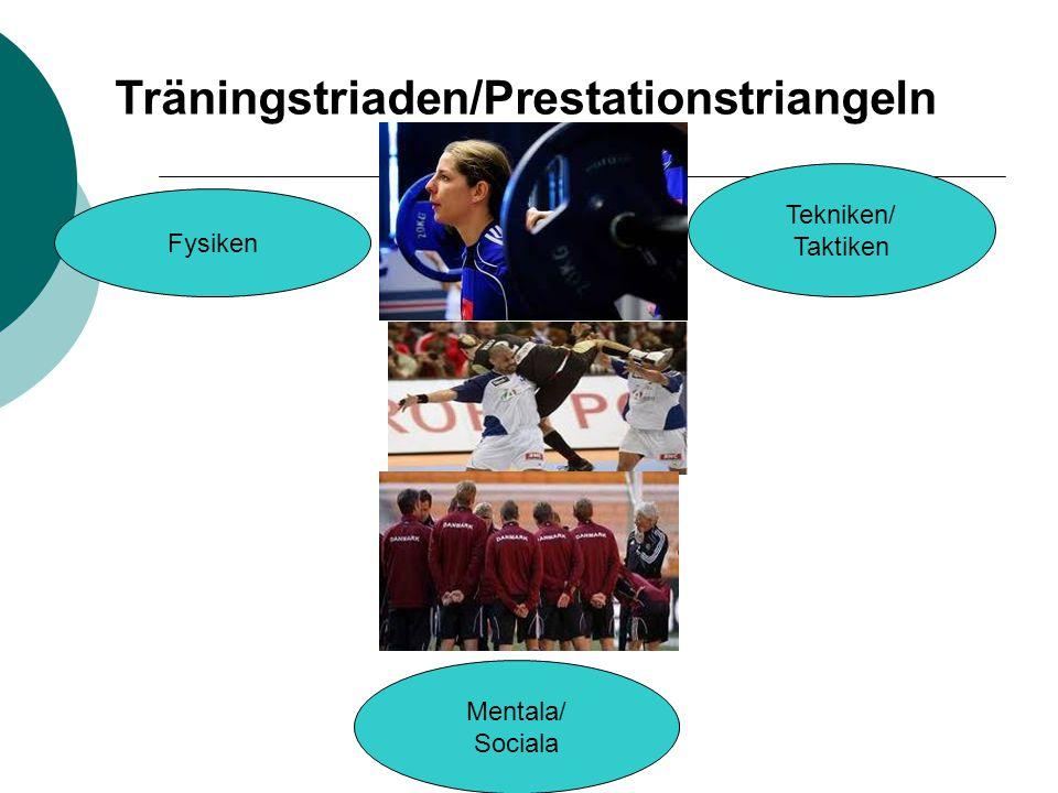 Träningstriaden/Prestationstriangeln Fysiken Tekniken/ Taktiken Mentala/ Sociala
