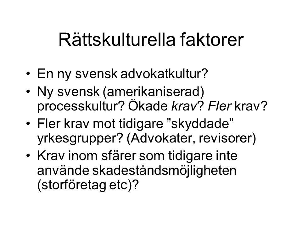 Rättskulturella faktorer En ny svensk advokatkultur.