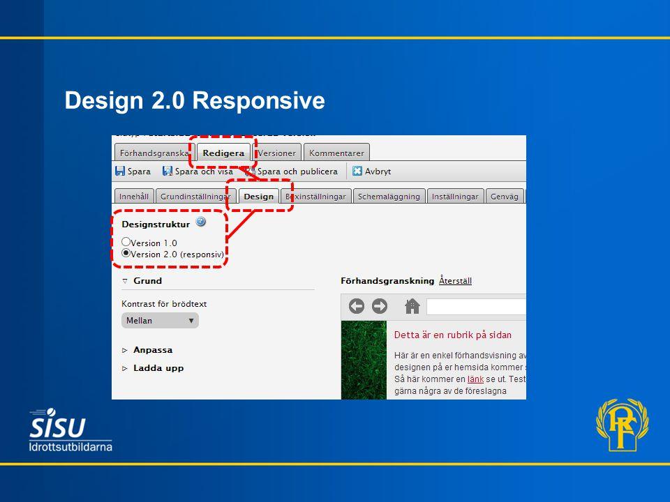 Design 2.0 Responsive
