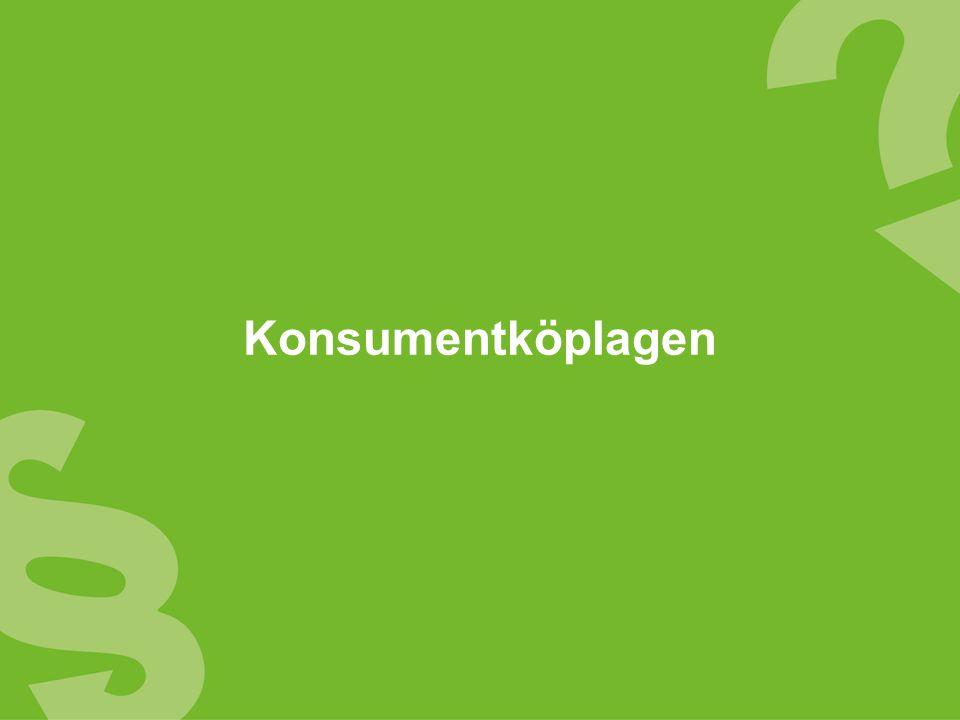 Information om konsumentlagarna Klagomål på vara, tjänst eller annons Ekonomiska råd Råd och fakta inför viktiga köpbeslut 2.