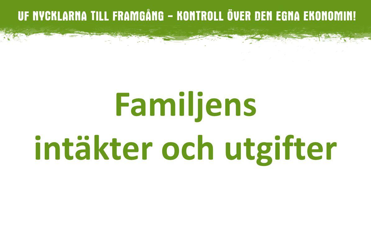 Familjens intäkter och utgifter