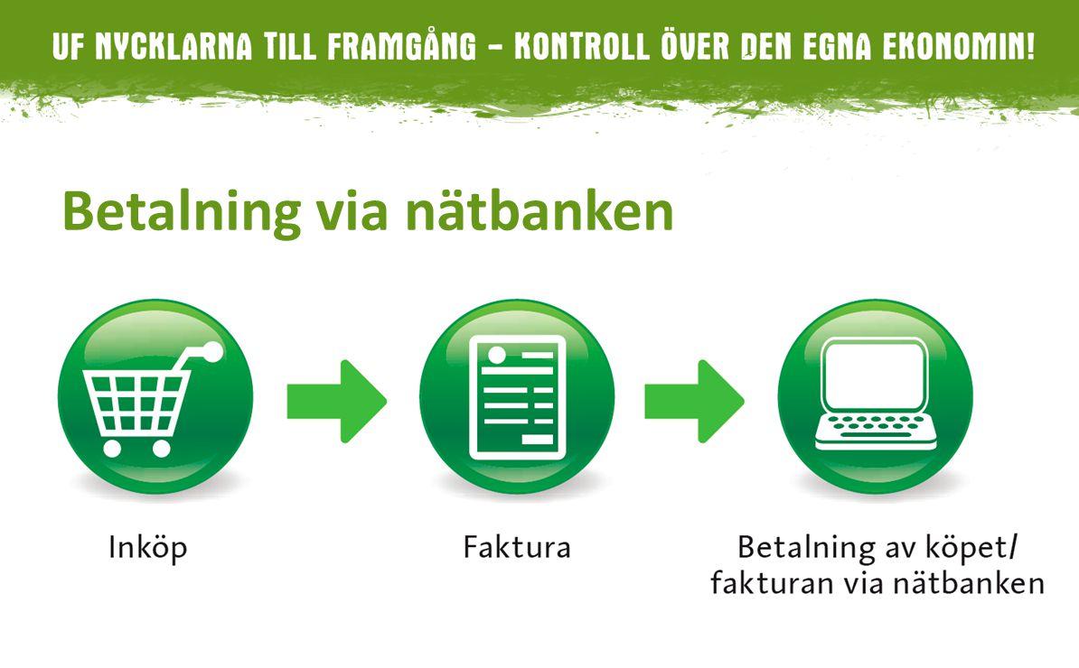 Betalning via nätbanken 5