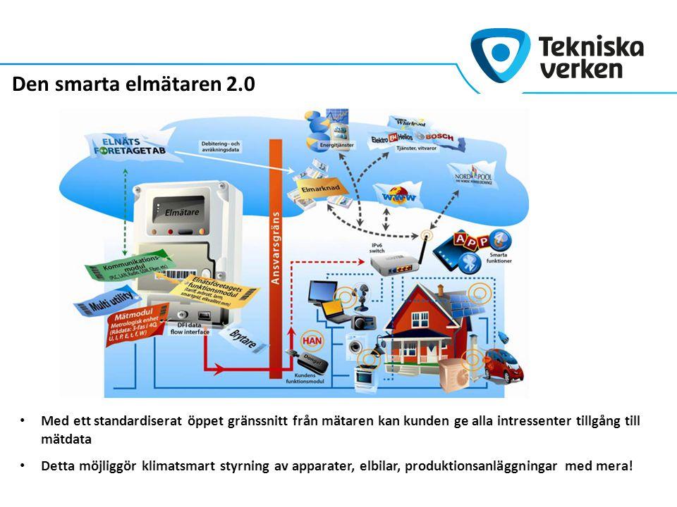 Traditionellt elnät Centraliserad produktion med stora enheter Små möjligheter för kunden att justera efterfrågan Konventionella apparater