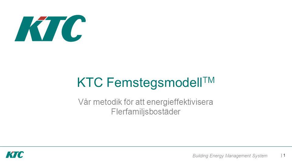 | 1 Building Energy Management System KTC Femstegsmodell TM Vår metodik för att energieffektivisera Flerfamiljsbostäder