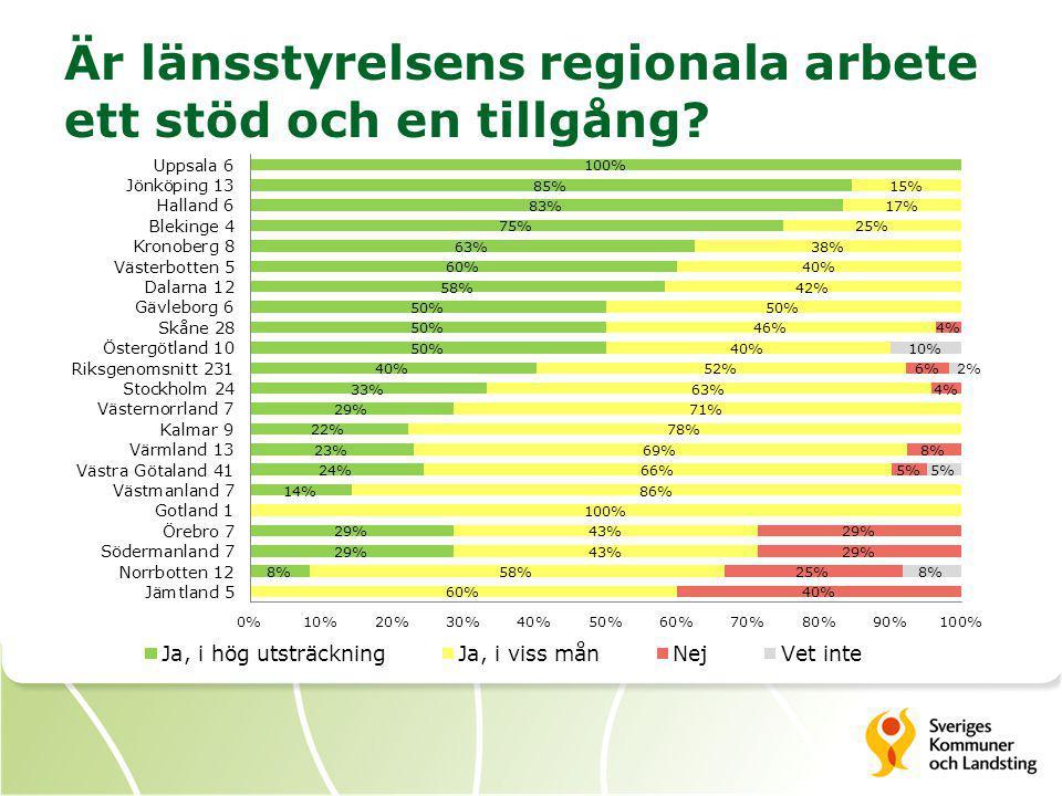 Är länsstyrelsens regionala arbete ett stöd och en tillgång