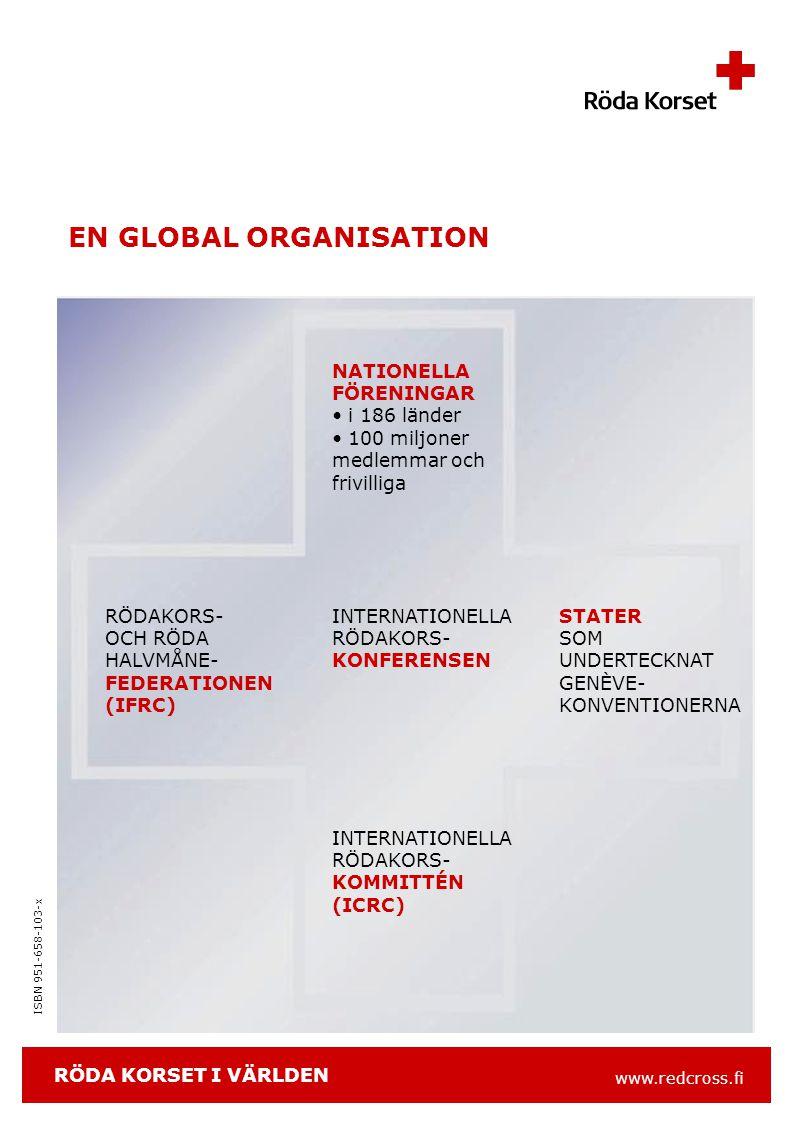 www.redcross.fi ISBN 951-658-103-x INTERNATIONELL HJÄLP KATASTROFHJÄLP i krig och konflikter vid naturkatastrofer UTVECKLINGSSAMARBETE stärkande av katastrofberedskapen i andra nationella föreningar -stöd för organisationsutvecklingen i andra nationella föreningar -primärhälsovårds- och samhällsprogram i andra nationella föreningar RÖDA KORSET I FINLAND