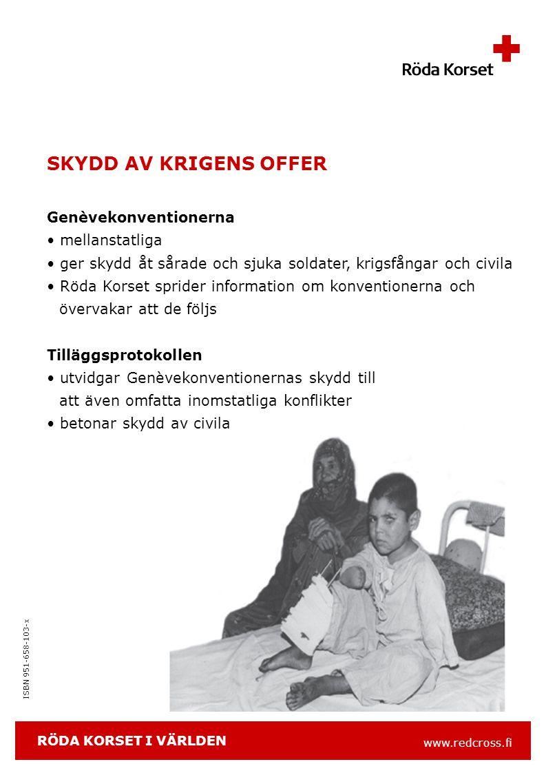 www.redcross.fi ISBN 951-658-103-x SÅ HÄR FINANSIERAS VERKSAMHETEN bidrag till Finlands Röda Kors katastroffond* medlemsavgifter produktförsäljning Kontti-kedjan intäkter från placeringar statsbidrag och ersättningar bidrag från Penningautomatföreningen EU företagssamarbetspartner och sponsorer *Katastroffondens intäkter används efter att insamlingskostnaderna avdragits i sin helhet till hjälp inom- och utomlands.