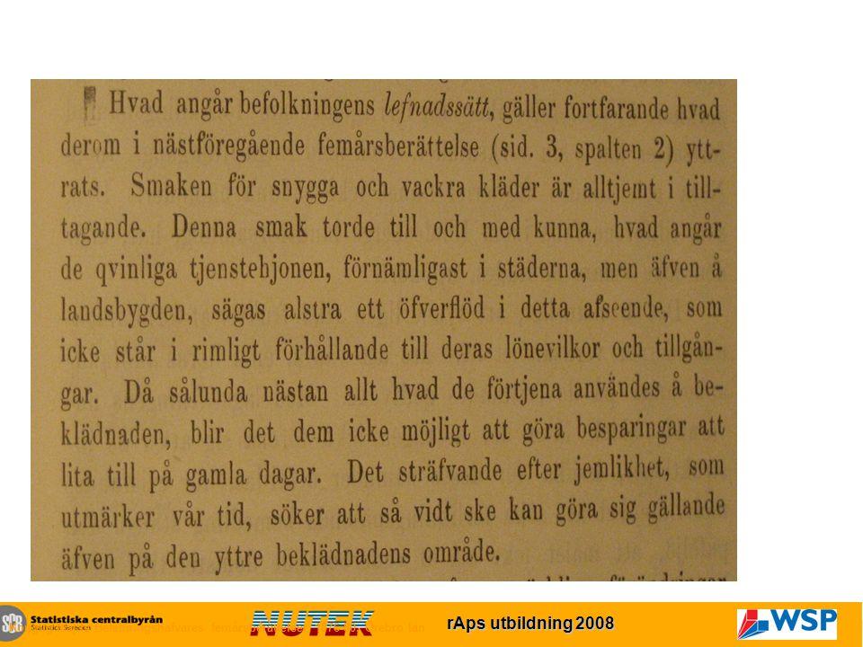 rAps utbildning 2007 rAps utbildning 2008 Konglig Maj:ts Befallningshafvares femårsberättelser 1876-80, Örebro län