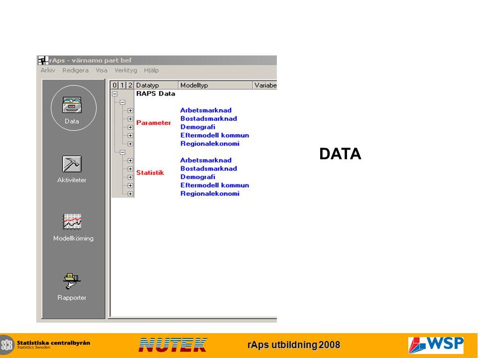 rAps utbildning 2007 rAps utbildning 2008 DATA