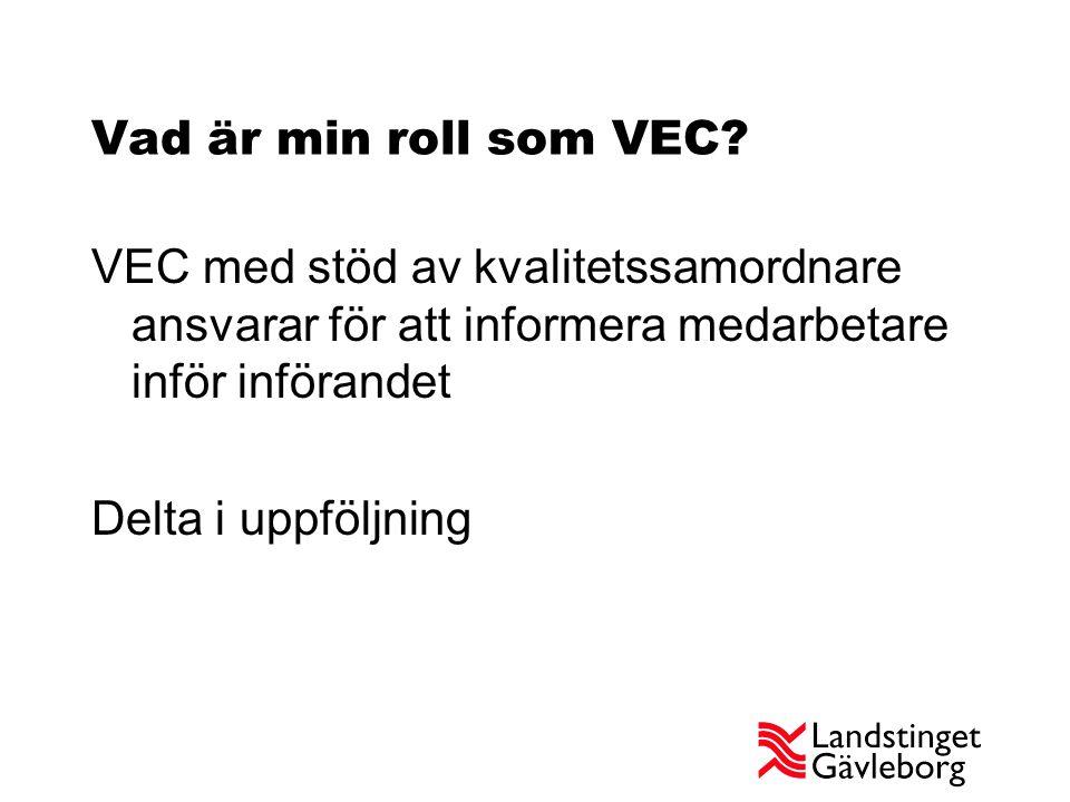 Vad är min roll som VEC.