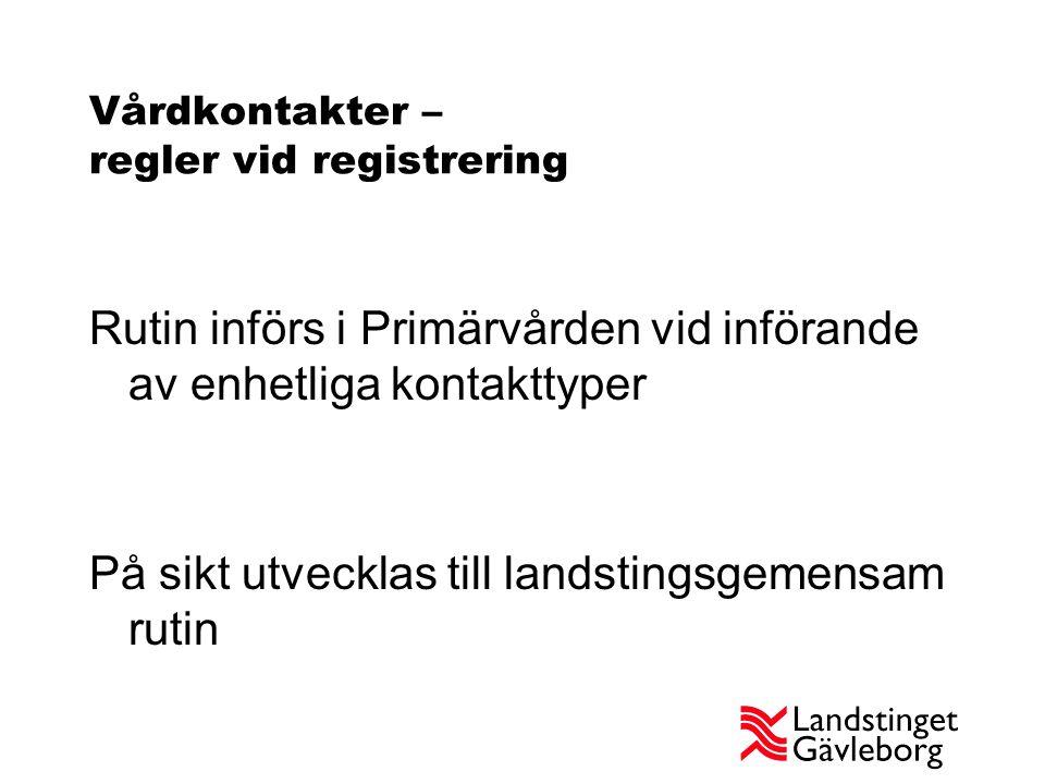 Införande Primärvården ansvarar för implementering, med stöd från LoV LoV Informerar kvalitetssamordnare 14/6 och 24/8 LoV inbjuder till information vid tre tillfällen, 25/8 i Bollnäs och Hudiksvall, 27/8 i Gävle.