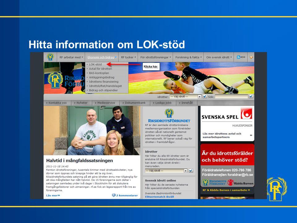 Hitta information om LOK-stöd