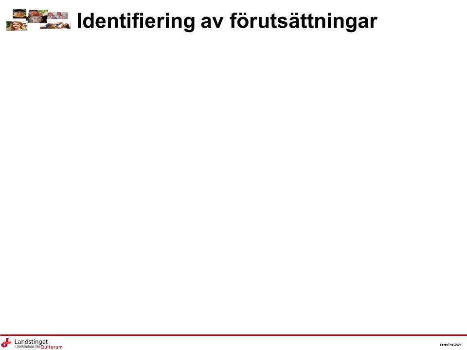 Qulturum Bergeling 2014 Identifiering av förutsättningar