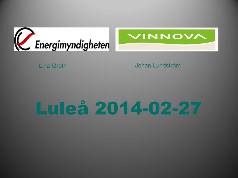 Infogad sidfot, datum och sidnummer syns bara i utskrift (infoga genom fliken Infoga -> Sidhuvud/sidfot) J Luleå 2014-02-27 Lina Groth Johan Lundström