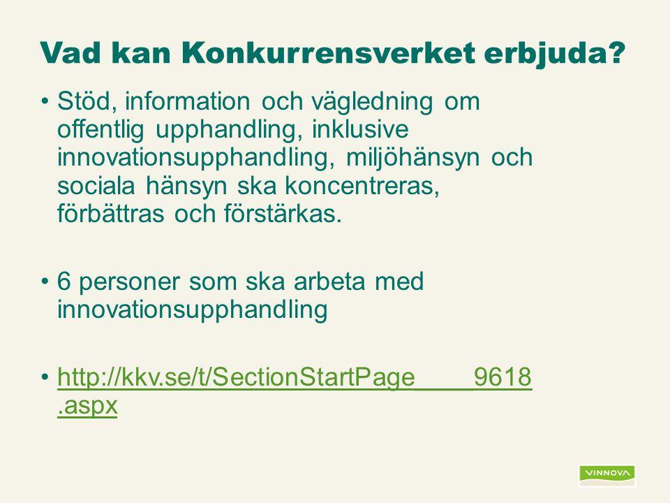 Infogad sidfot, datum och sidnummer syns bara i utskrift (infoga genom fliken Infoga -> Sidhuvud/sidfot) Vad kan Konkurrensverket erbjuda? Stöd, infor