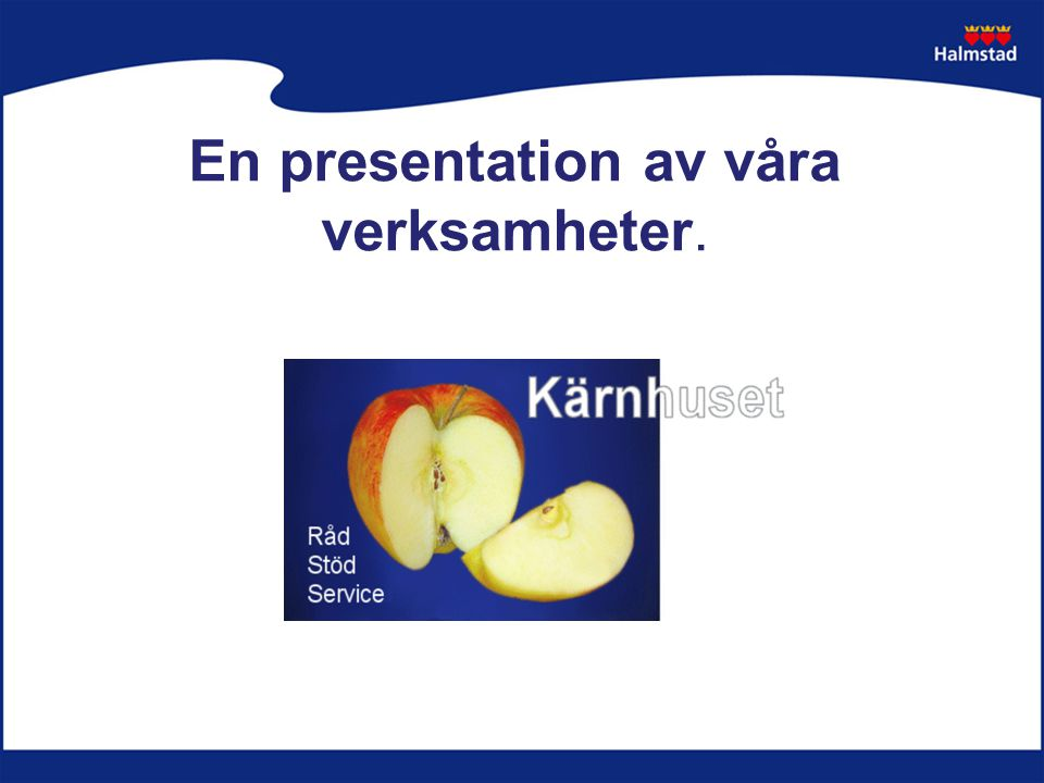 En presentation av våra verksamheter.