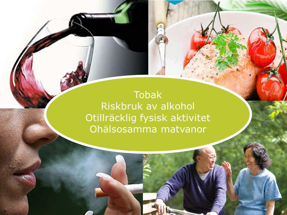 131125 Tobak Riskbruk av alkohol Otillräcklig fysisk aktivitet Ohälsosamma matvanor