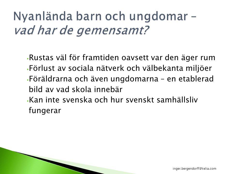 Särskild stödinsats (grundskoleförordningen 1994:1194, 5 kap.2§) på modersmålet eller om eleven undervisats på ett annat skolspråk, på det språket i stället för på modersmålet inger.bergendorff@telia.co m
