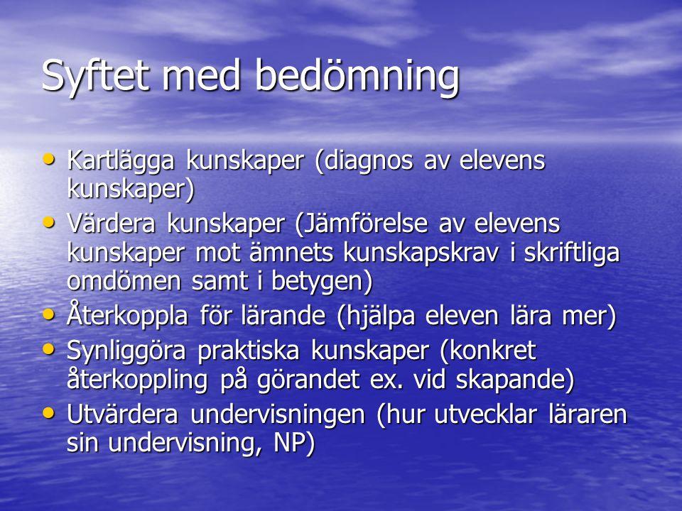 Varför betyg i Sverige.