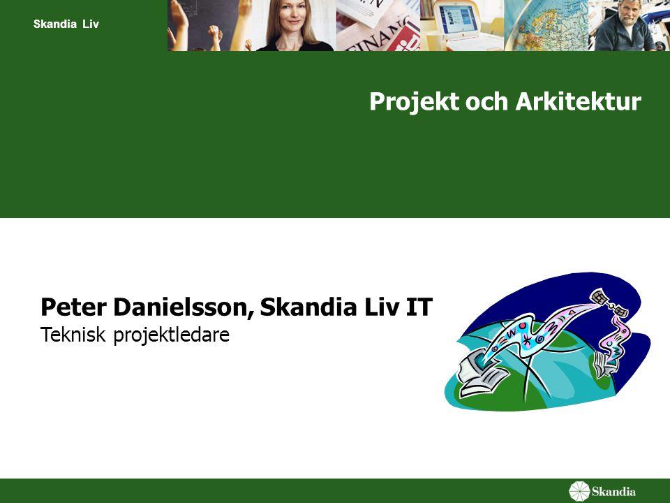 Skandia Liv Projekt och Arkitektur Peter Danielsson, Skandia Liv IT Teknisk projektledare