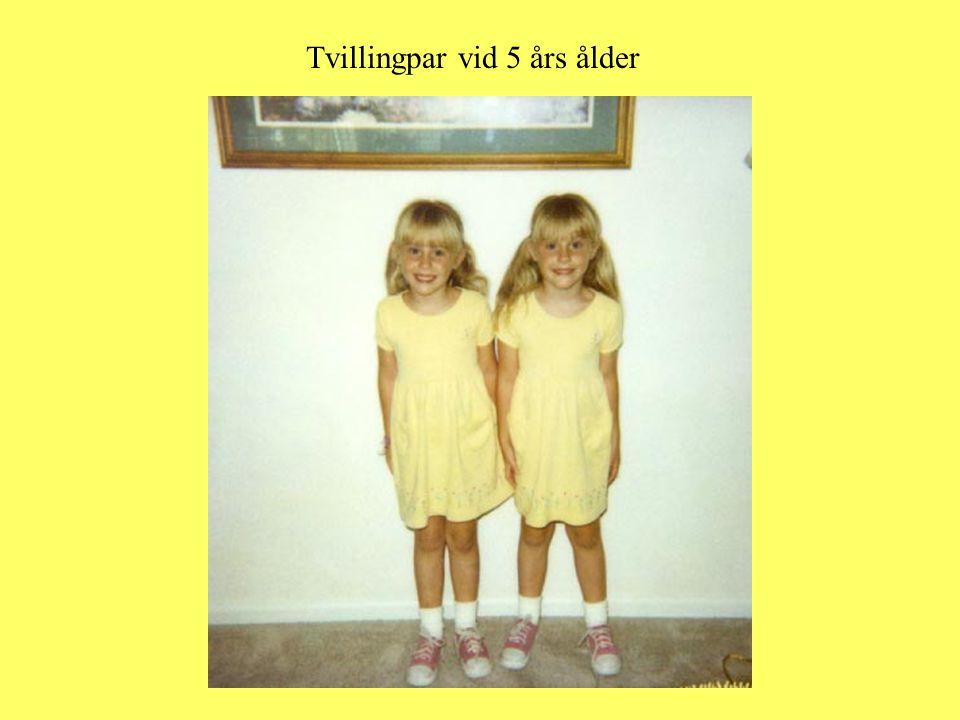 Tvillingpar vid 5 års ålder