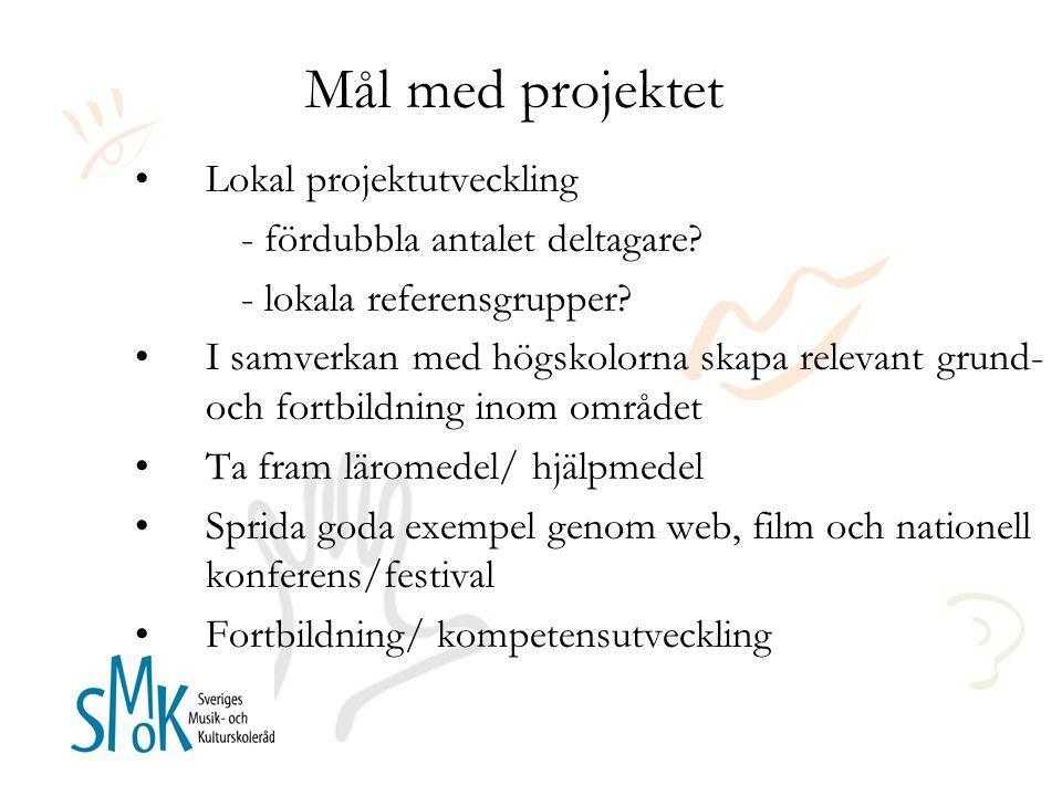 Mål med projektet Lokal projektutveckling - fördubbla antalet deltagare.