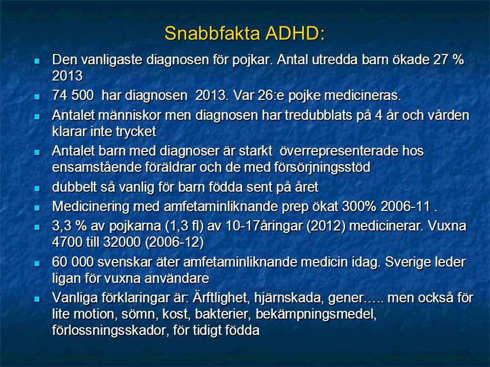 Snabbfakta ADHD: Den vanligaste diagnosen för pojkar.