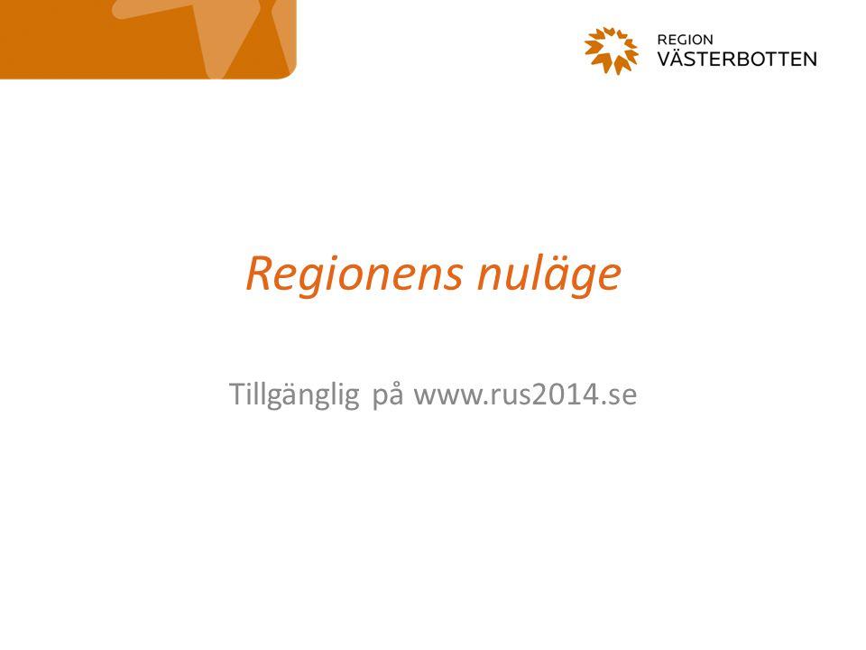 Regionens nuläge Tillgänglig på www.rus2014.se