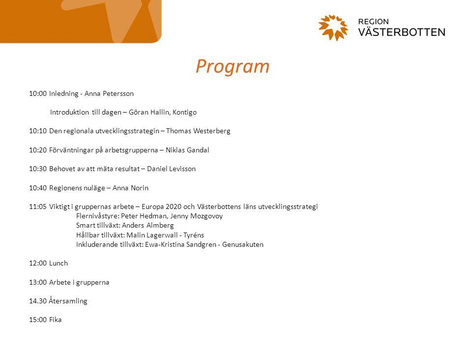 Den regionala utvecklingsstrategin i ett nationellt och EUropeiskt sammanhang Thomas Westerberg