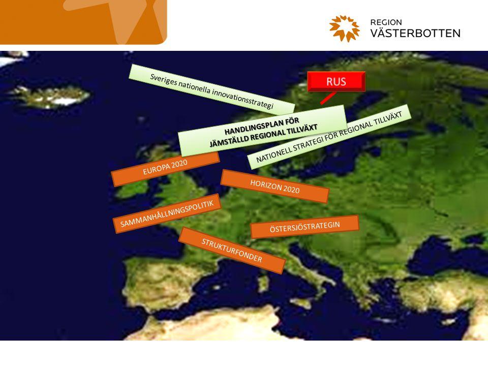 47 1.Höja sysselsättningsgraden från 69% till minst 75% 2.Investera 3% av BNP i FoU 3.20/20/20 målet skall uppnås 4.Minska andelen ungdomar som slutar skolan i förtid från 15% till 10%, öka andelen 30-34 år med högre utbildning från 31% till minst 40% 5.Minska andelen EU-medborgare som lever under fattigdomsmålet med 25% Överordnade mål Smart tillväxt Hållbar tillväxtTillväxt för alla Innovation Innovationsunionen Utbildning Unga på väg Ett digitalt samhälle En digital agenda för Europa Klimat, energi och miljö Ett resurseffektivt Europa Konkurrenskraft Industripolitik för en globaliserad tid Sysselsättning och kompetens En agenda för ny kompetens och nya arbetstillfällen Fattigdomsbekämpning Europeisk plattform mot fattigdom