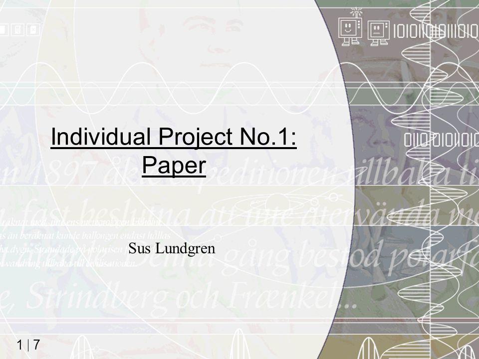 7 1 Individual Project No.1: Paper Sus Lundgren