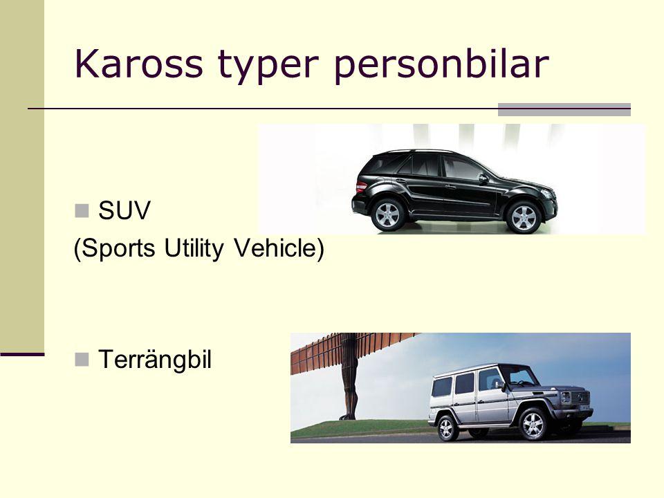Kaross typer personbilar SUV (Sports Utility Vehicle) Terrängbil