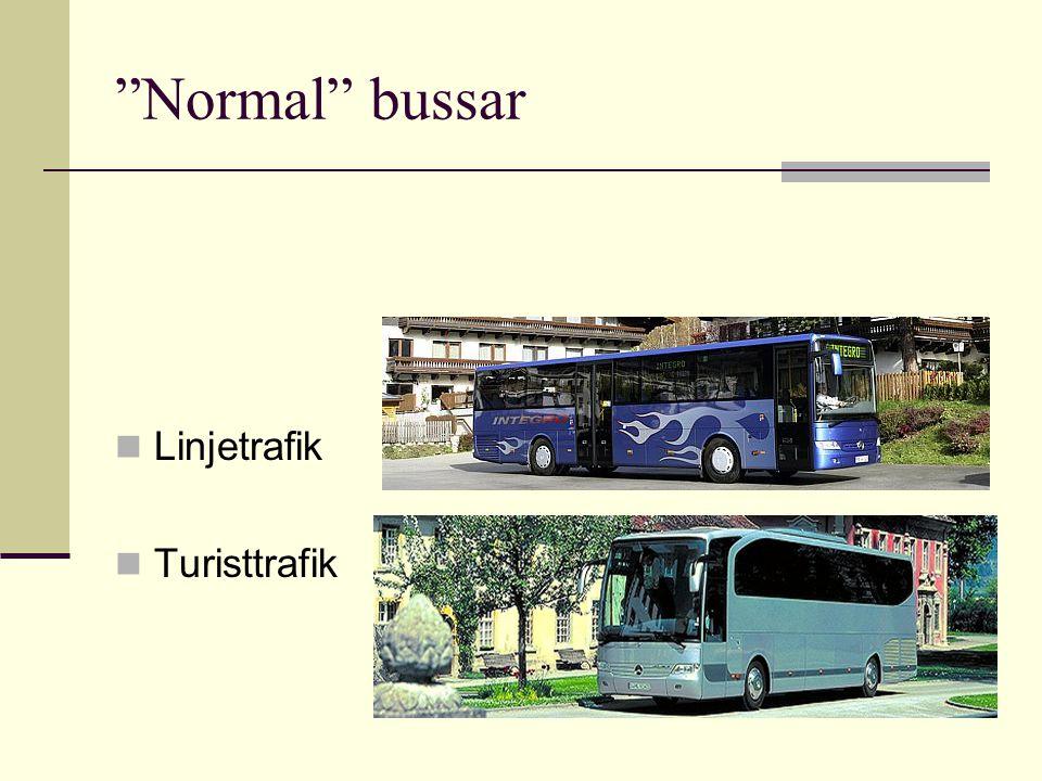 """Normal"" bussar Linjetrafik Turisttrafik"