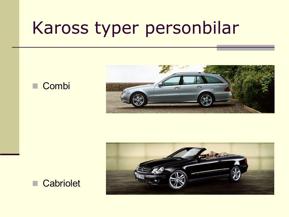 Kaross typer personbilar Combi Cabriolet