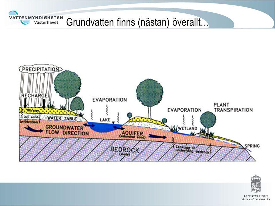 Grundvatten finns (nästan) överallt…