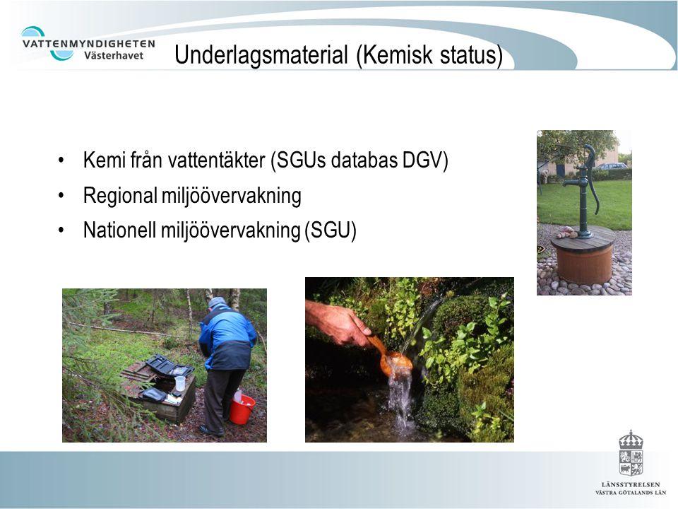 Provtagningsstationer 2 källor/brunnar (regional miljöövervakning) 1 vattentäkt (finns det fler?)