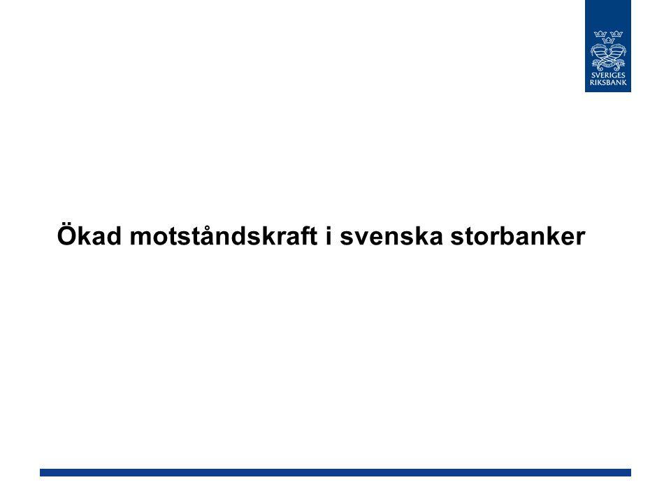 Ökad motståndskraft i svenska storbanker